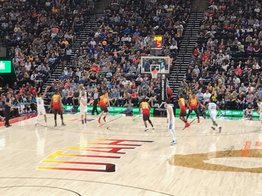 Les Jazz contre les Hornets